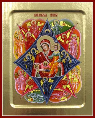Икона Пресвятой Богородицы Неопалимая Купина на дереве: 125 х 160 - купить в интернет-магазине