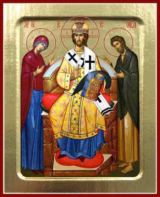 Икона Спаситель Великий Архиерей на дереве: 125 х 160 - купить в интернет-магазине
