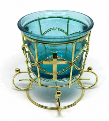 Лампада настольная ажурная со стаканом в ассортим - купить в интернет-магазине